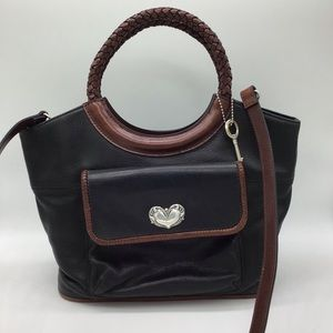 Fossil Black and Brown Leather Purse